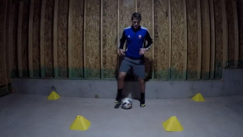 Still image from: Bad Weather? Basement Training Session