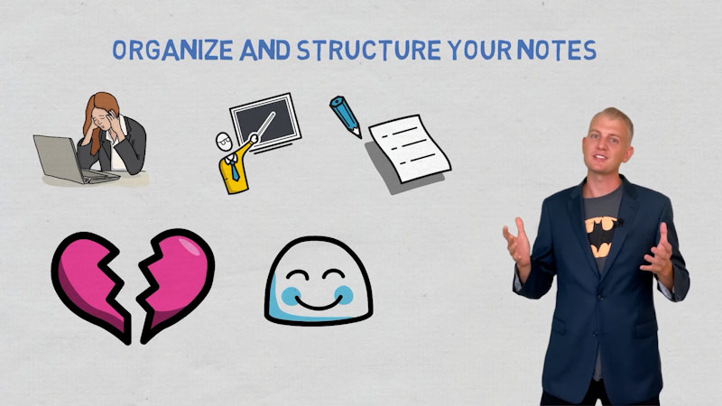 Still image from: Organize and Structure Your Notes