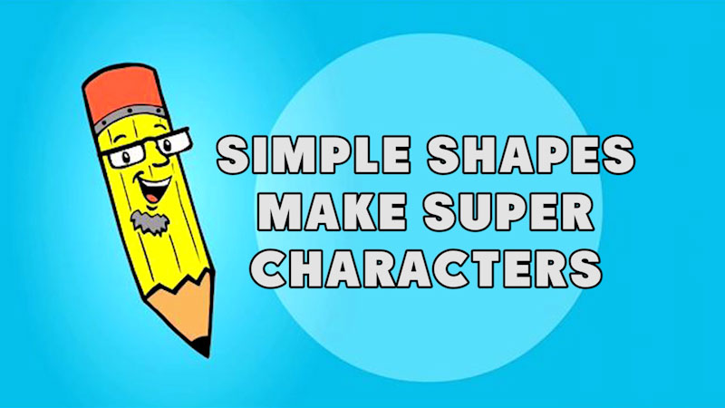 Still image from: Kids Make Comics #1: Simple Shapes Make Super Characters!