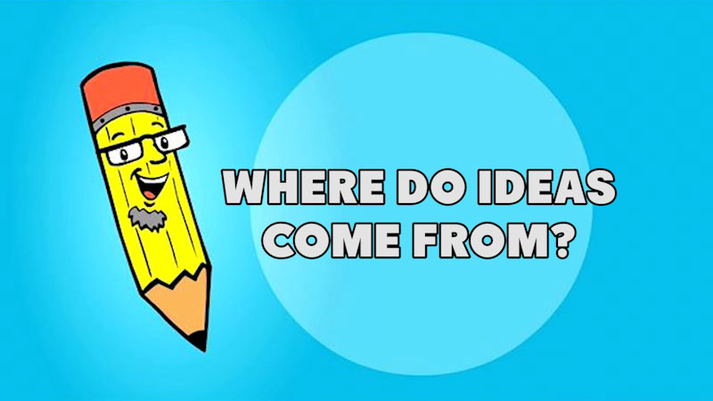 Still image from: Kids Make Comics #2: Where Do Ideas Come From?