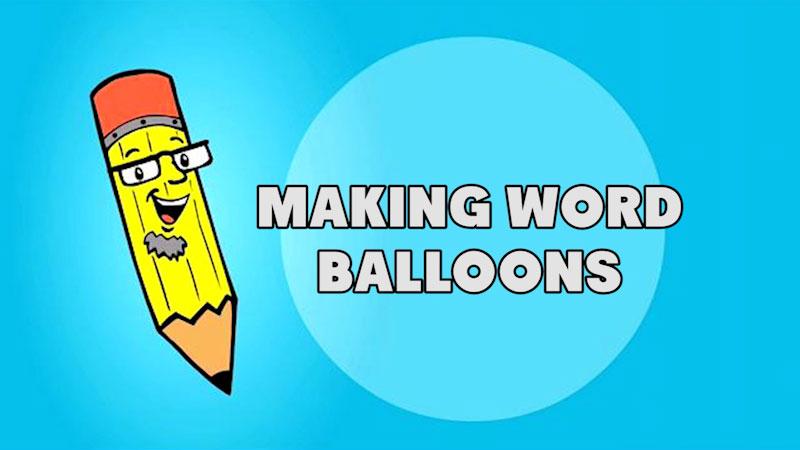Still image from: Kids Make Comics #3: Making Word Balloons!
