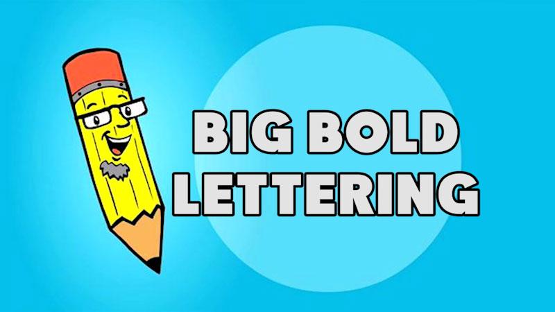 Still image from: Kids Make Comics #4: Making Big Bold Lettering!