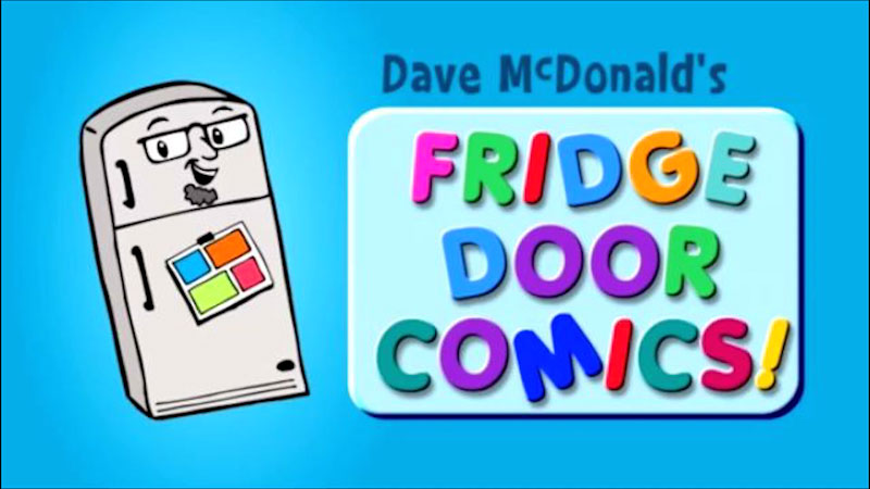 Still image from: Kids Make Comics #5: Making Fridge Door Comics!