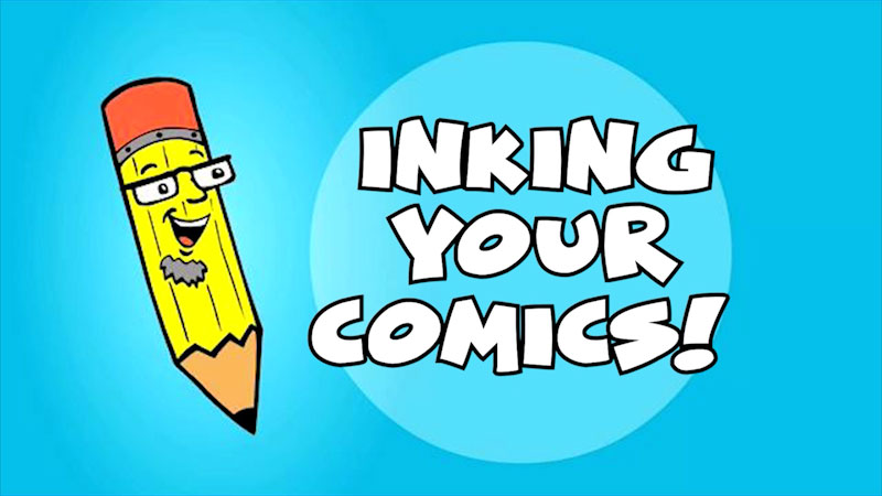 Still image from: Kids Make Comics #6: Inking Your Comics!