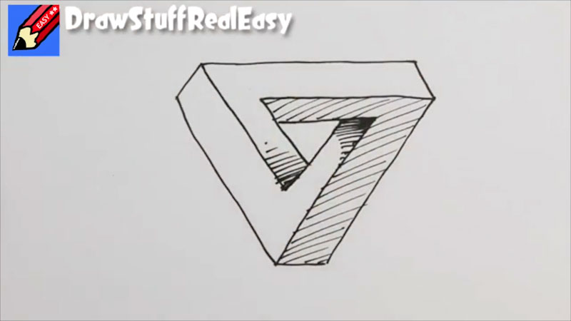 Still image from: How to Draw an Impossible Triangle Real Easy