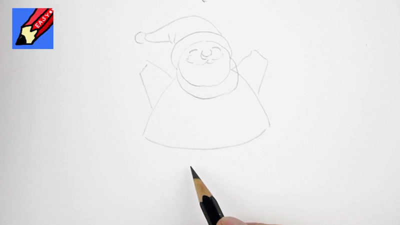 Still image from: How to Draw Santa Real Easy