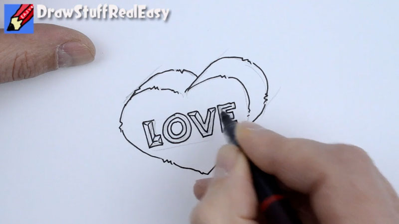Still image from: How to Draw a Heart of Stone Real Easy