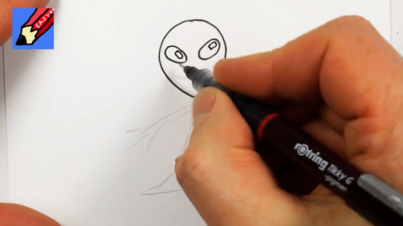 Still image from: How to Draw an Alien Real Easy