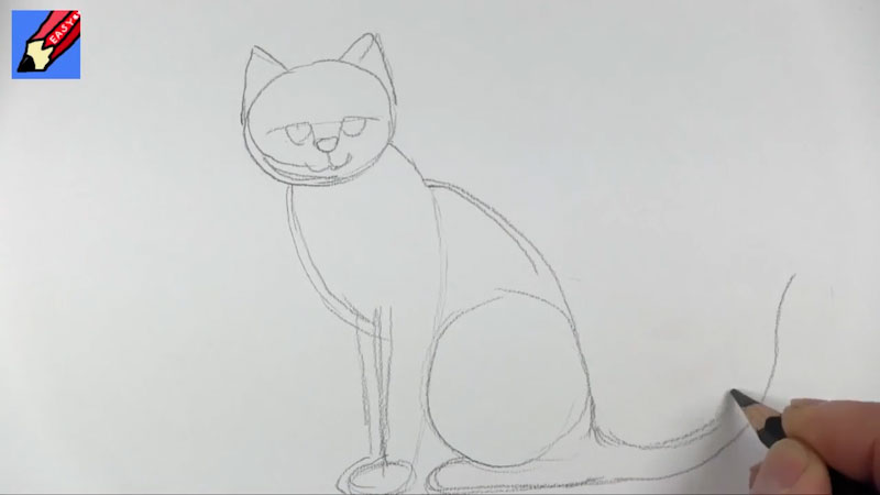 Still image from: How to Draw a Cat Real Easy