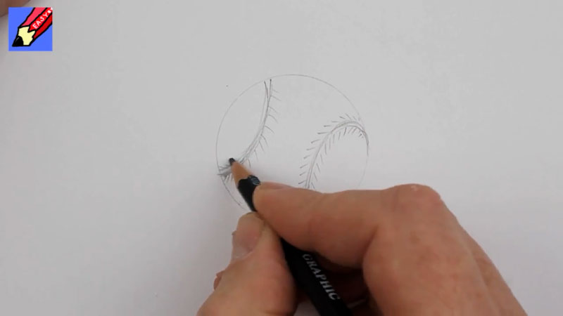 Still image from: How to Draw a Baseball Real Easy
