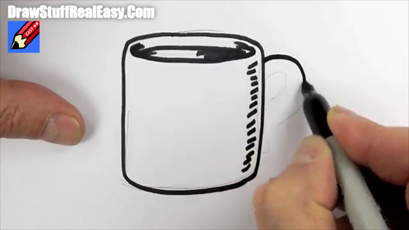 Still image from: How to Draw a Mug of Coffee Real Easy