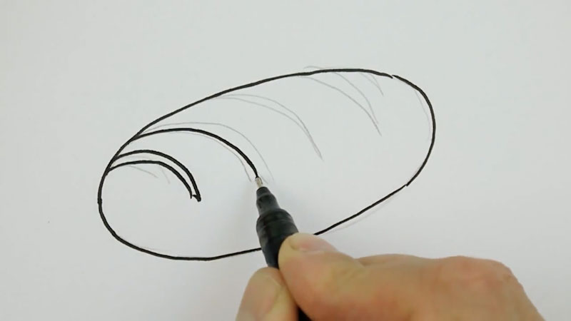 Still image from: How to Draw a Loaf of Bread Real Easy