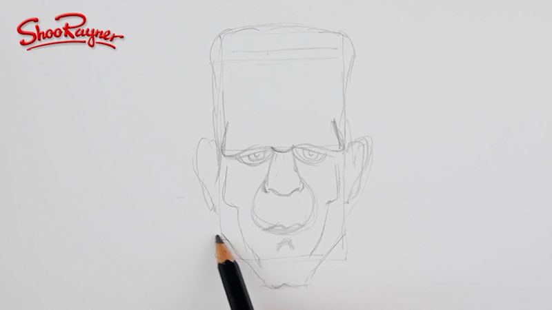 Still image from: How to Draw Frankenstein's Monster