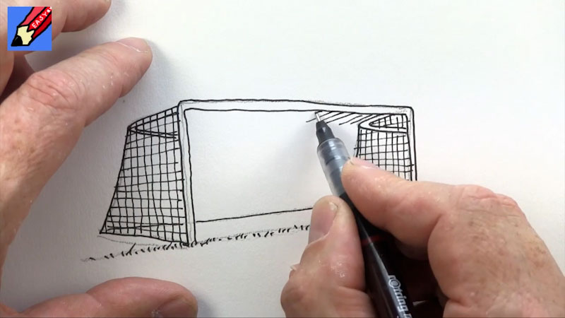 Still image from: How to Draw a Soccer Goal Real Easy