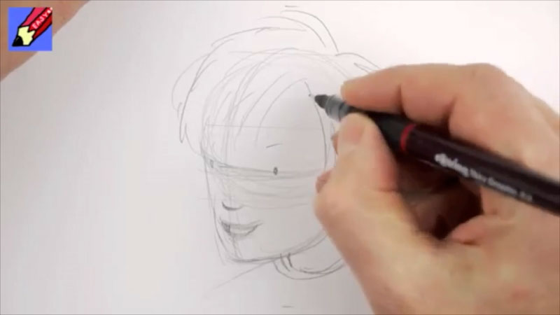 Still image from: How to Draw a Boy's Face Real Easy