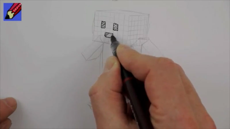 Still image from: How to Draw a Minecraft-Type Person