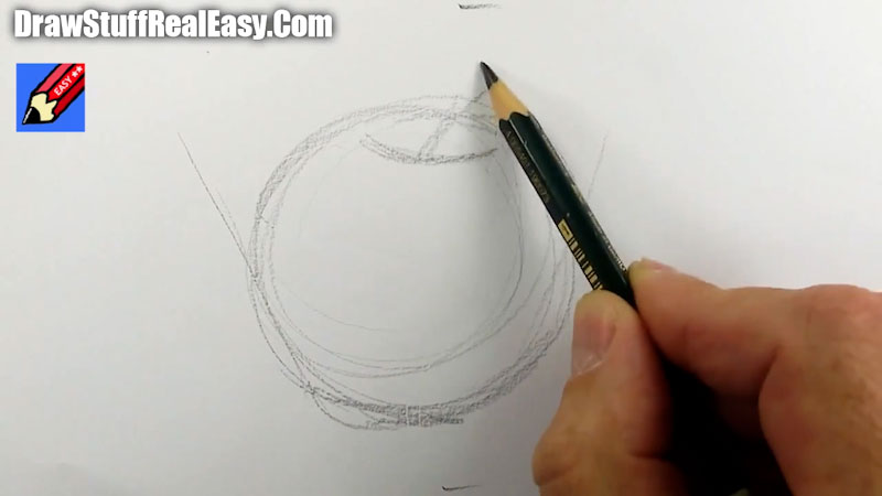 Still image from: How to Draw an Apple Real Easy