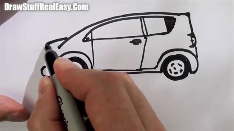 Still image from: How to Draw a Car Real Easy