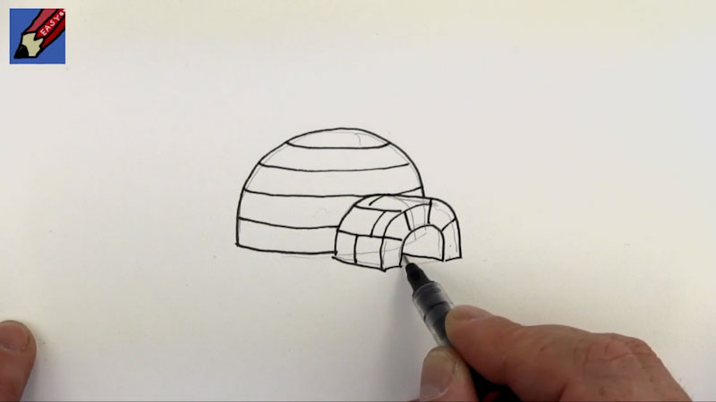 Still image from: How to Draw an Igloo Real Easy
