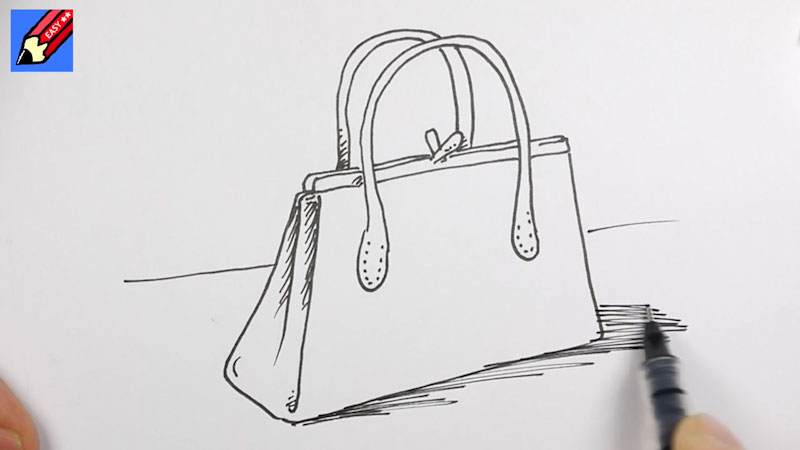 Still image from: How to Draw a Handbag Real Easy