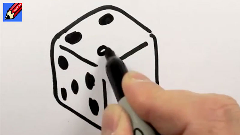 Still image from: How to Draw a Dice Real Easy