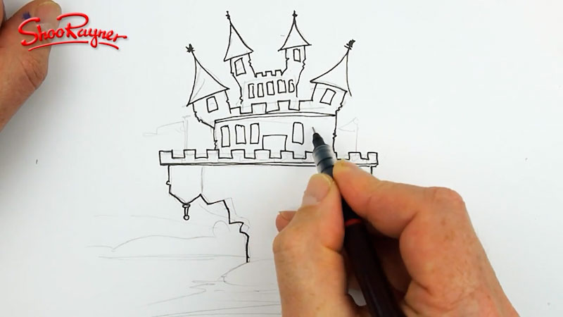 Still image from: Draw a Creepy Castle