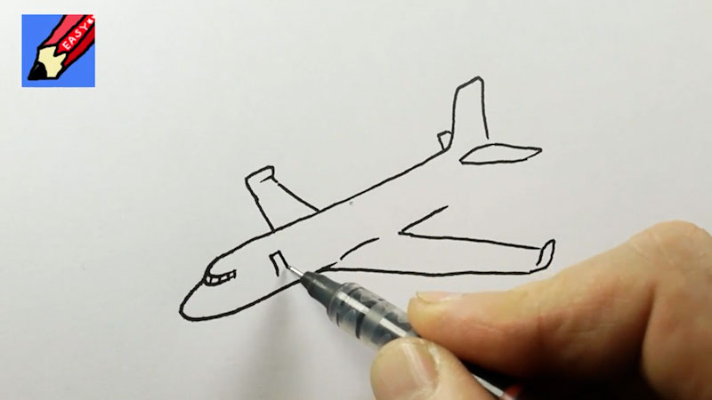 Still image from: How to Draw a Plane Real Easy