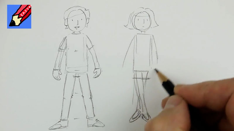 Still image from: How to Draw Cartoon People Real Easy