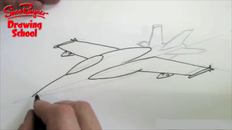Still image from: How to Draw a F-18 Fighter Plane