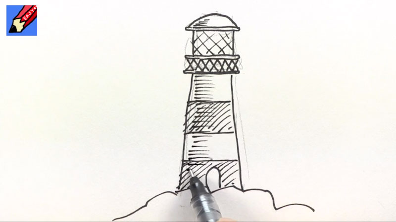Still image from: How to Draw a Lighthouse Real Easy