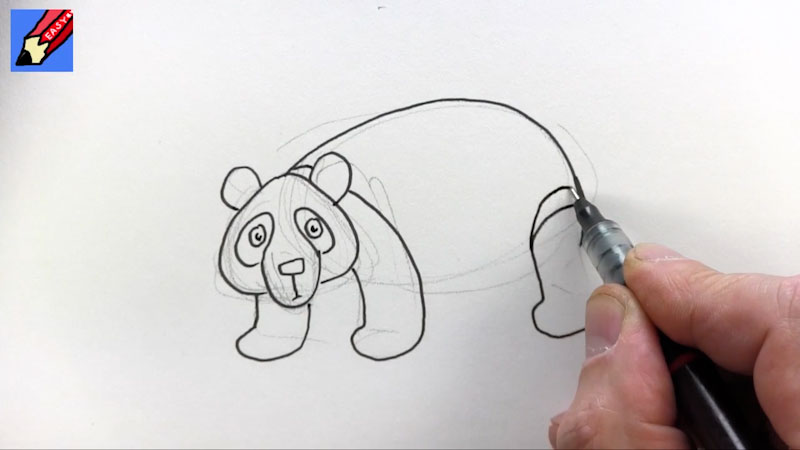Still image from: How to Draw a Panda Bear Real Easy
