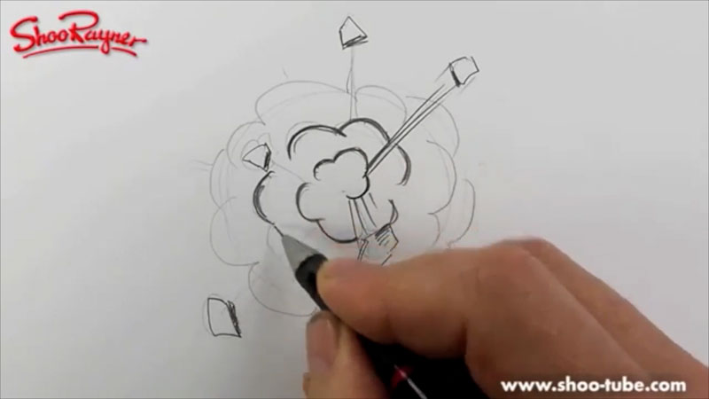 Still image from: How to Draw a Cartoon Explosion