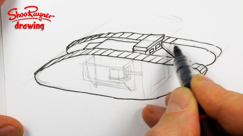 Still image from: How to Draw a WWI Tank