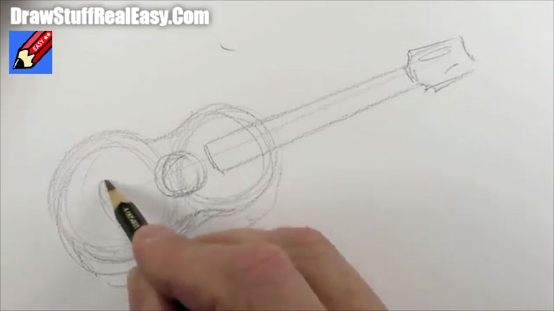 Still image from: How to Draw a Spanish Guitar Real Easy