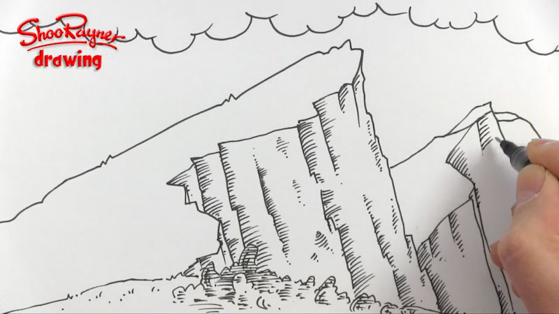 Still image from: How to Draw Mountains