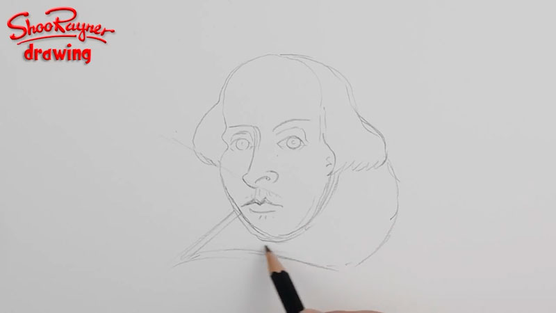 Still image from: How to Draw William Shakespeare