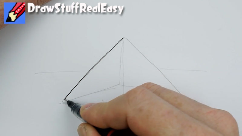 Still image from: How to Draw a Pyramid Real Easy