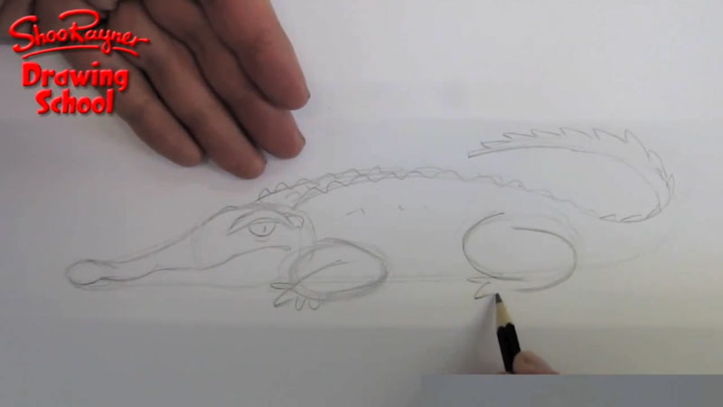 Still image from: How to Draw a Crocodile