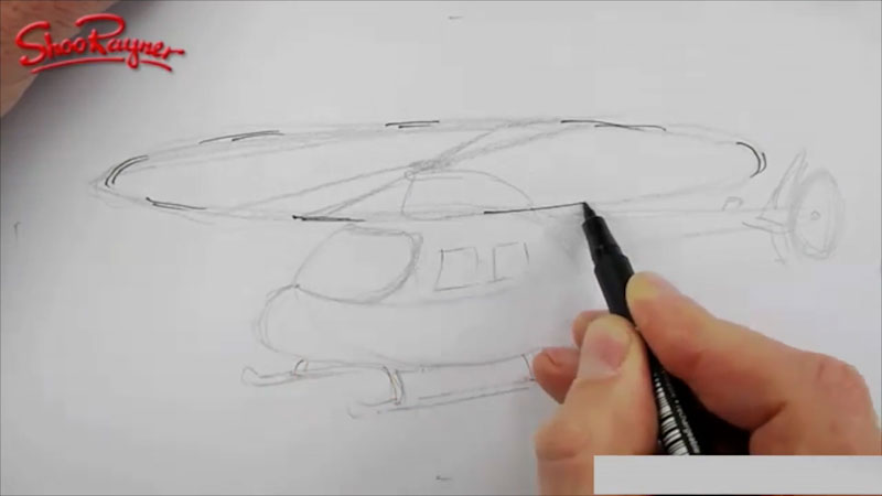 Still image from: How to Draw a Helicopter