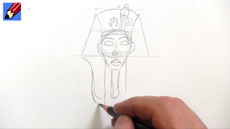 Still image from: How to Draw Tutankhamun Real Easy