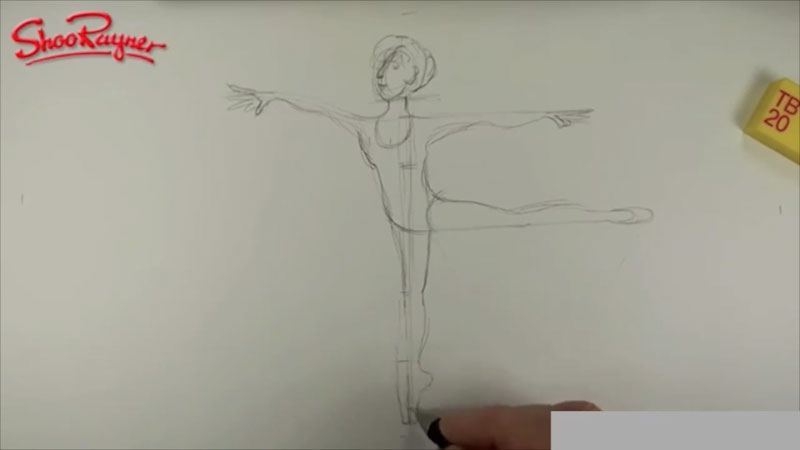 Still image from: How to Draw a Ballerina
