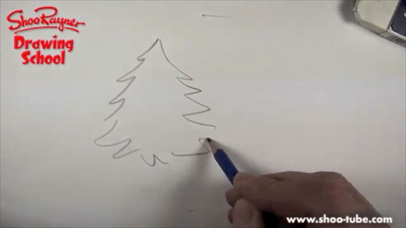 Still image from: How to Draw a Fir Tree