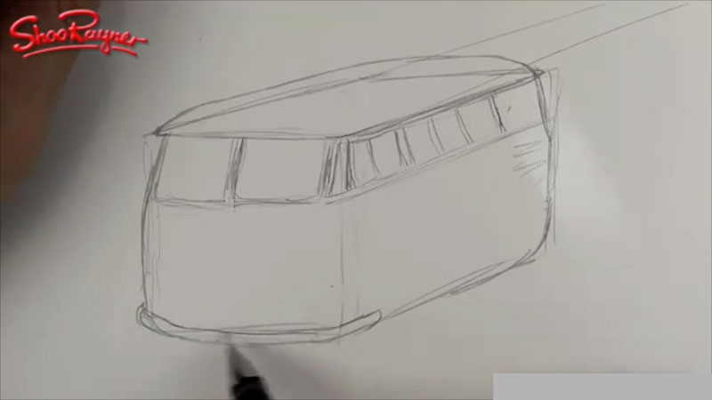 Still image from: How to Draw a VW Camper Van