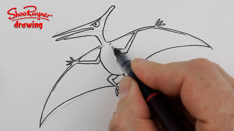 Still image from: How to Draw a Pterodactyl