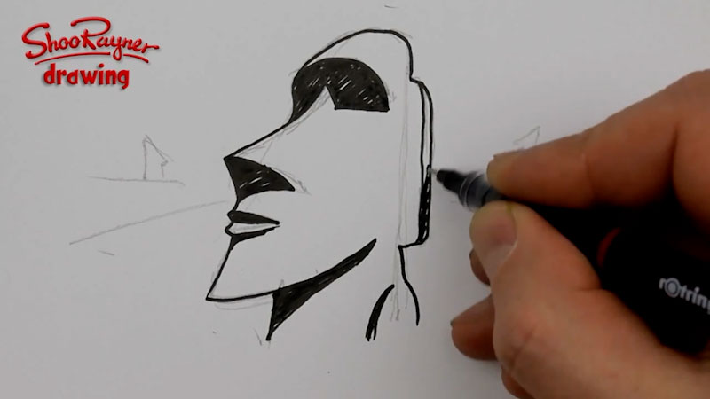 Still image from: How to Draw an Easter Island Statue