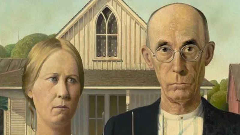 Still image from Grant Wood: His Life And Paintings