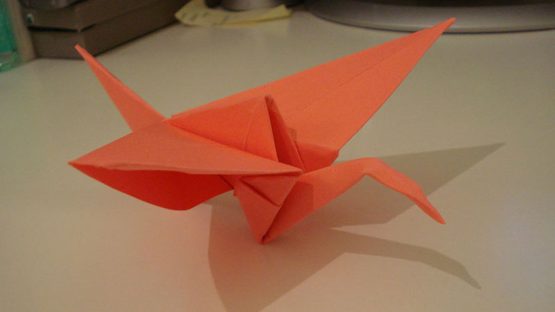 Still image from: How to Fold a Paper Crane