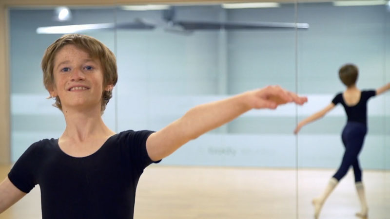 Still image from: Against the Odds: Salem Foxx Ballet Boy