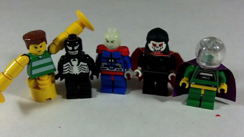 Still image from: How to Build LEGO Spider-Man Villains