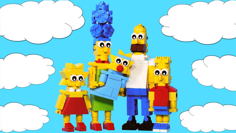 Still image from: How to Build LEGO Simpsons Family